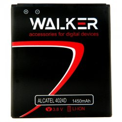 АКБ WALKER Alcatel 4024D (TLi014C7) 1450mAh