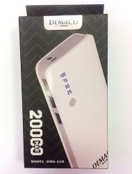 Внешнее ЗУ Power Bank Demaco DMK-A50 20000mAh белое