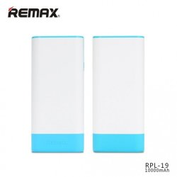 Внешнее ЗУ Power Bank REMAX Youth 10000mAh RPL-19 бело-голубое