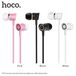 Гарнитура HOCO M37 Pleasant Sound Universal Earphone with Mic белая