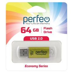 Perfeo USB 64GB E01 Gold