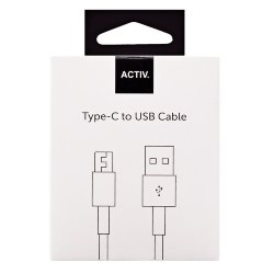 Кабель USB - Type-C Activ Clean Line 100 cm черный