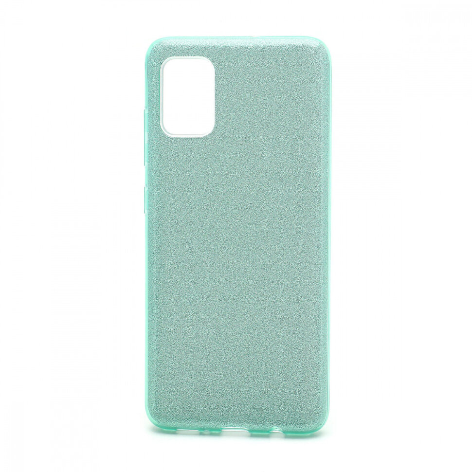 Накладка SC097 БЛЕСТКИ 3в1 Samsung A315 Galaxy A31 (green)