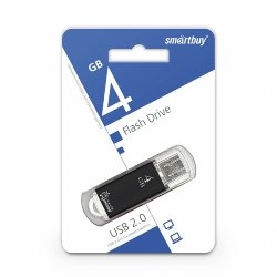 SmartBuy USB 4GB V-Cut Black