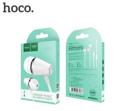 Гарнитура HOCO M34 Honor Music Universal Earphone with Mic белая