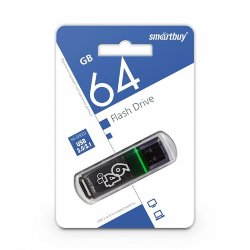 SmartBay USB 64GB Glossy series Dark Gray USB 3.0